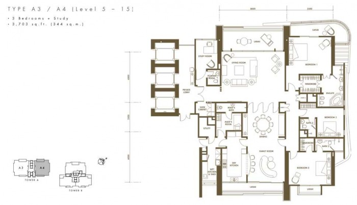 10 Mont Kiara Floor Plan